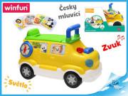 Auto edukační/odrážedlo česky mluvící se světlem a zvukem