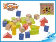 Kostky dřevěné 50ks 2-Play v kbelíku