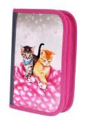 Školní penál 2-klopy prázdný CATS & MICE, Emipo