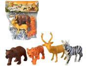 Zvířátka safari, 4 ks, 13 cm