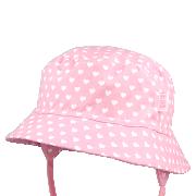 Dívčí letní vázací klobouk Srdíčka RDX