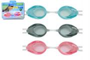 Plavecké brýle 3 druhy na kartě 8 let + Intex