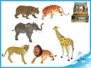 Zvířátka safari 23-30cm 6druhů