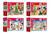 Minipuzzle Vánoce s Mickeym 54 dílků