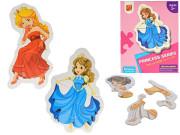 Puzzle dětské Princezny 17 dílků
