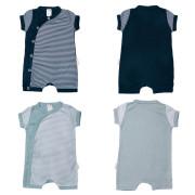 Overal letní kojenecký krátký rukáv/nohavice Proužky MKcool