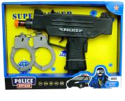 Policejní pistole s pouty