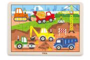 Dřevěné puzzle 24 dílků - stavba Viga