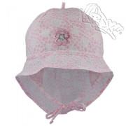 Dívčí klobouk vázací s plachetkou Květ Růžový RDX