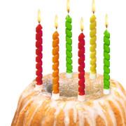 Dekorační svíčky 6ks Twister