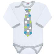Body s potiskem New Baby s kravatou s puntíky