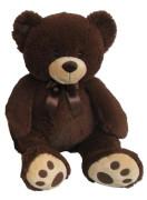 Plyšový medvídek 60 cm, tmavě hnědý
