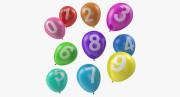 Balónky s čísly 5 ks