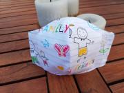 Látková respirační rouška - maska pro děti 7 - 12 let s kapsičkou animals