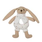 Zajíček Bunny s chrastítkem béžový