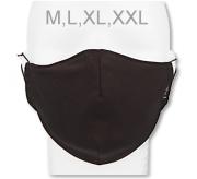 Funkční designová rouška z materiálu Coolmax Černá RDX