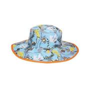 Dětský UV klobouček Kidz Banz Jungle aqua oboustranný 2–5 let