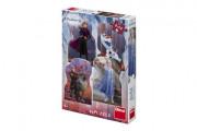 Puzzle 4v1 Ledové království II/Frozen II 4x54 dílků v krabici