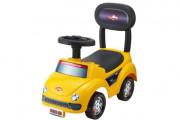 Odrážedlo auto plast žluté výška sedadla 20cm