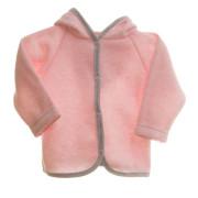 Kabátek svetrovina s kapucí MKcool Růžová