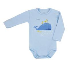 Kojenecké body s dlouhým rukávem Koala Happy Baby modré