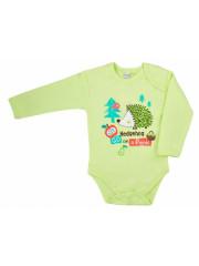 Kojenecké body Bobas Fashion Ježek Zelené