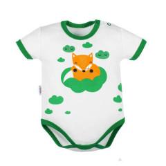 Kojenecké body s krátkým rukávem New Baby Liška zelená