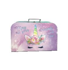 Kufřík Jednorožec růžovo/fialový 35 cm