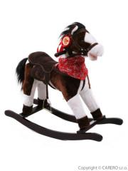 Houpací koník BAYO Monty hnědo-bílý