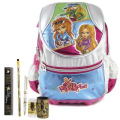Školní batoh Cool set - 6dílná sada - batoh RockBabe a školní pomůcky Hollywood