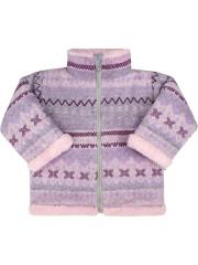 Zimní kojenecký kabátek se stojáčkem Baby Service Etnik zima růžový