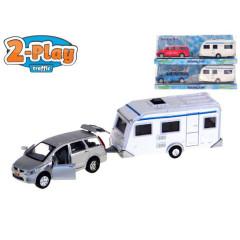 Auto Mitsubishi kov s karavanem 2-Play zpětný chod