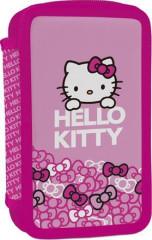 Školní penál 2 patrový plný Hello Kitty Kids