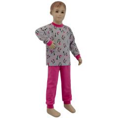 Bavlněné pyžamo panda na šedé Esito Vel. 92 - 122