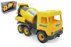 Auto middle Truck domíchávač plast 40cm žlutý v krabici Wader
