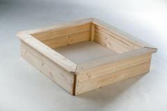 Pískoviště dřevo 4 sezení 80x80cm