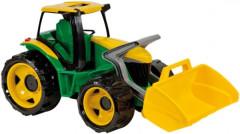 Traktor se lžíci, zeleno žlutý