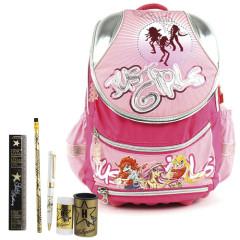 Školní batoh Cool set - 6dílná sada - batoh COOL Just Girls + školní pomůcky Hollywood