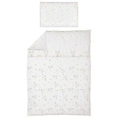 Povlečení do postýlky 2 dílné 100 x 135 cm Ceba - Dream puntíky bílá