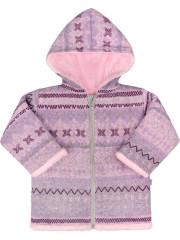 Zimní kabátek s kapucí wellsoft zateplený Etnik růžový Baby Service