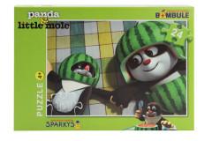 Puzzle Krtek a Panda - meloun, 24 dílků