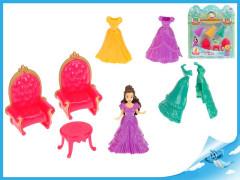 Set princezna 10cm s náhradními šaty + nábytek