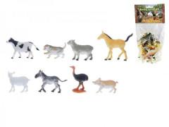 Zvířátka farma plast 5-9cm 8ks v balení