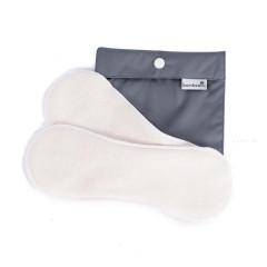 Látkové menstruační vložky denní sada 2ks + Pytlík Mini (šedý) Bamboolik