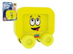 Moje první autíčko pěna Smajlík žlutý Millaminis