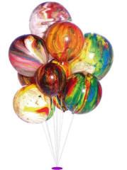 Balónky mramorované 5 ks