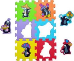 Pěnové puzzle podlahové KRTEK s deštníkem 15 x 15 cm