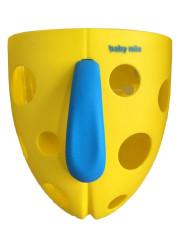 Plastový box na hračky do vany Babymix - Žlutý+modrý