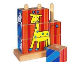 Dřevěné nasouvací kostky 2 + Eichhorn