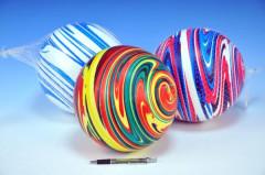 Míč 22cm duhový 3 barvy v síťce 10m+